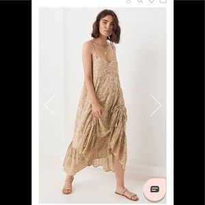 Spell And The Gypsy Lioness Ruched Strappy Dress